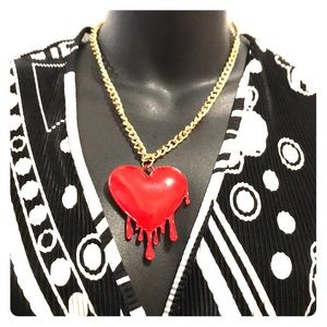 Bleeding Heart Fashion Necklace
